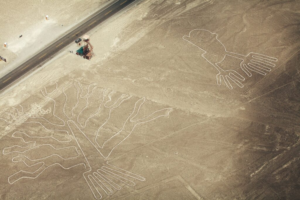 The Nazca Lines in Peru.
