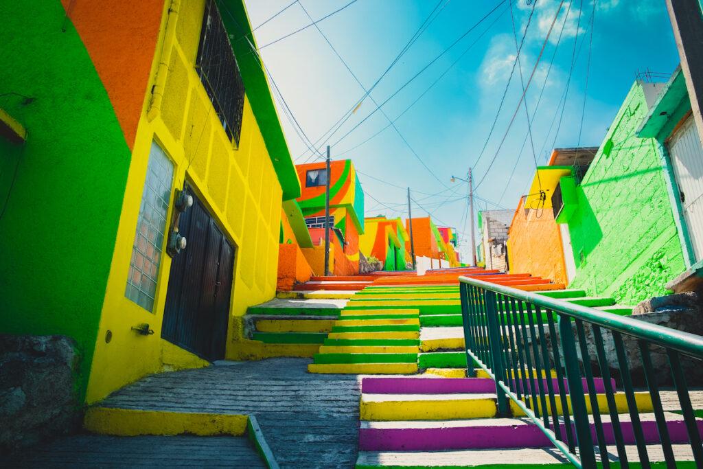 The neighborhood of Las Palmitas in Pachuca, Mexico.