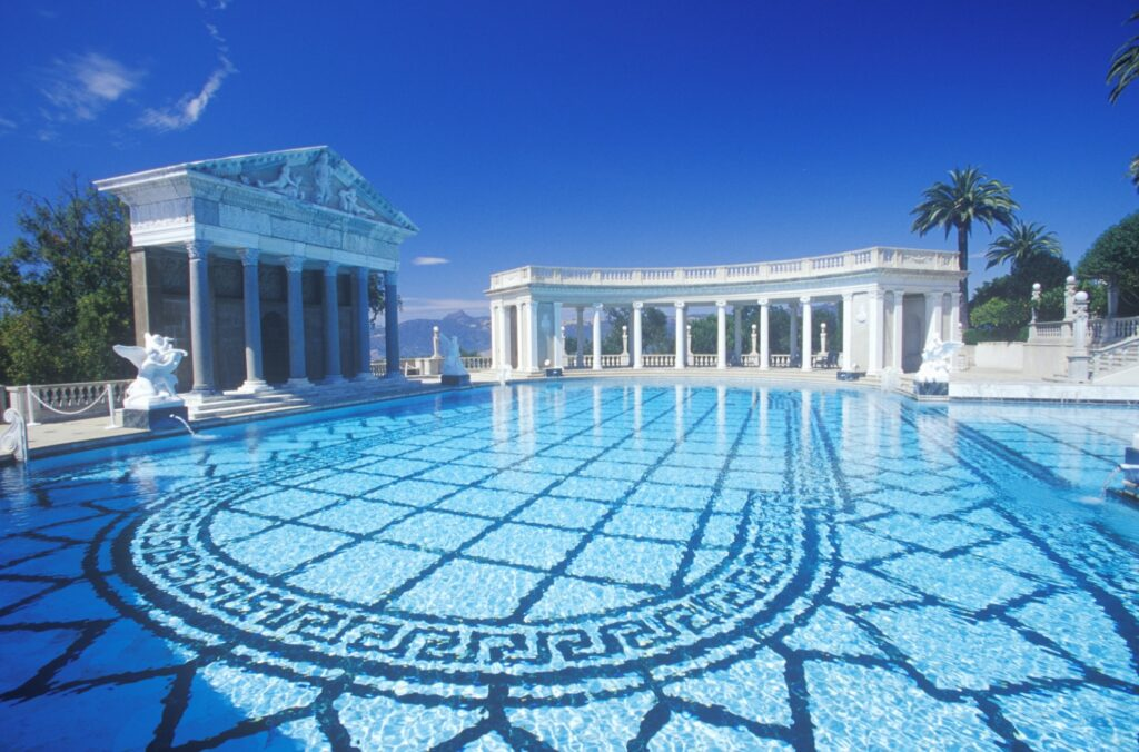 The Neptune Pool at Hearst Castle.