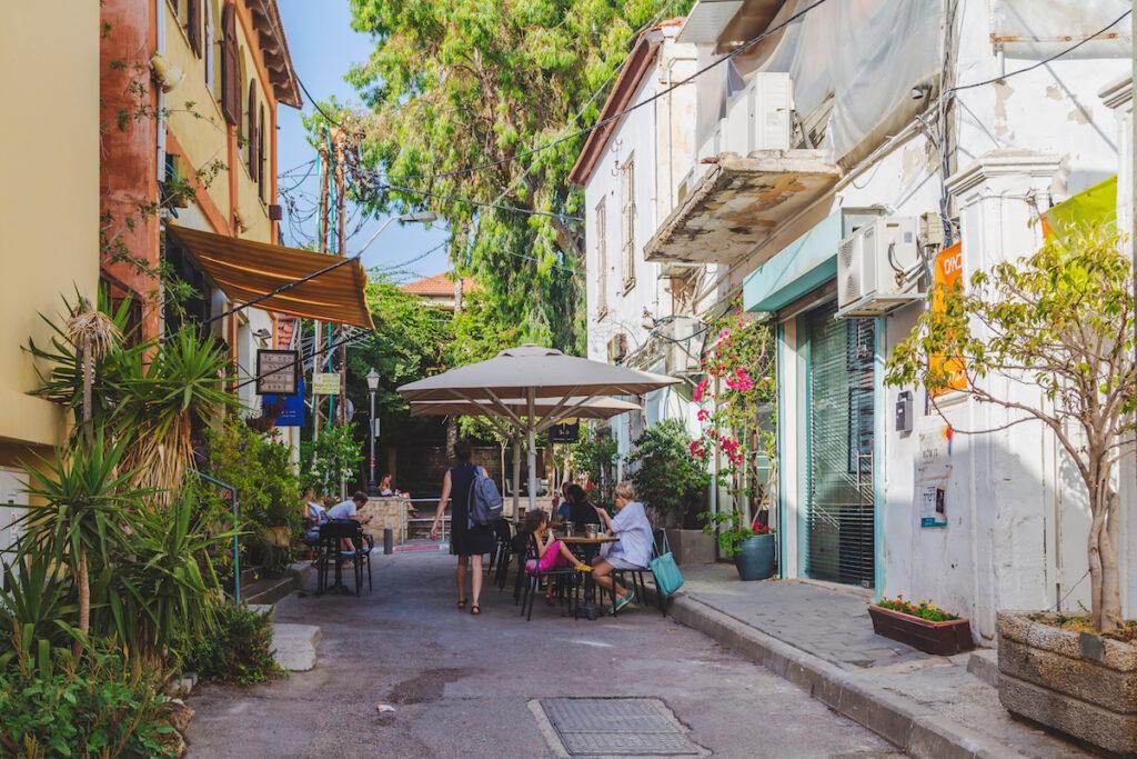 The Neve Tzedek Neighborhood in Tel Aviv.