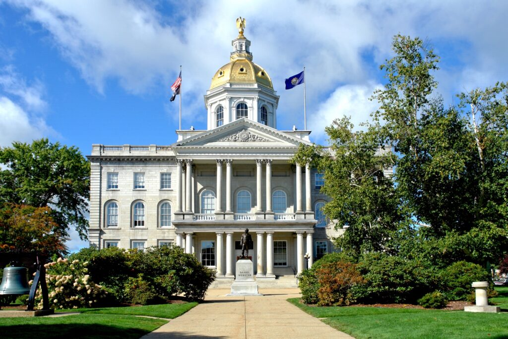 The New Hampshire State House.