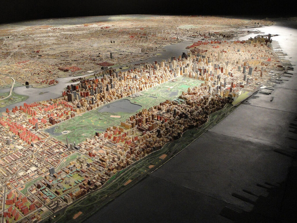 The New York City Panorama at the Queens Museum.