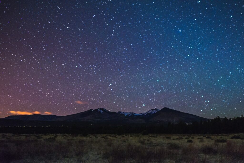 The night sky over Sunset Crater Volcano National Monument.