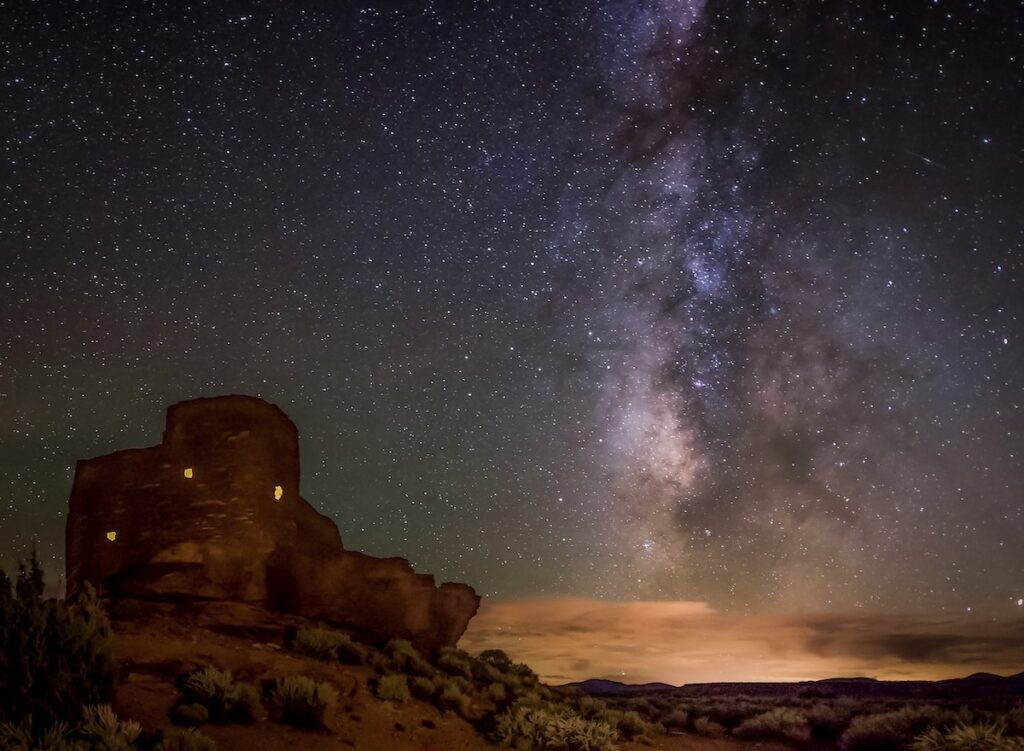The night sky over Wupatki National Monument.