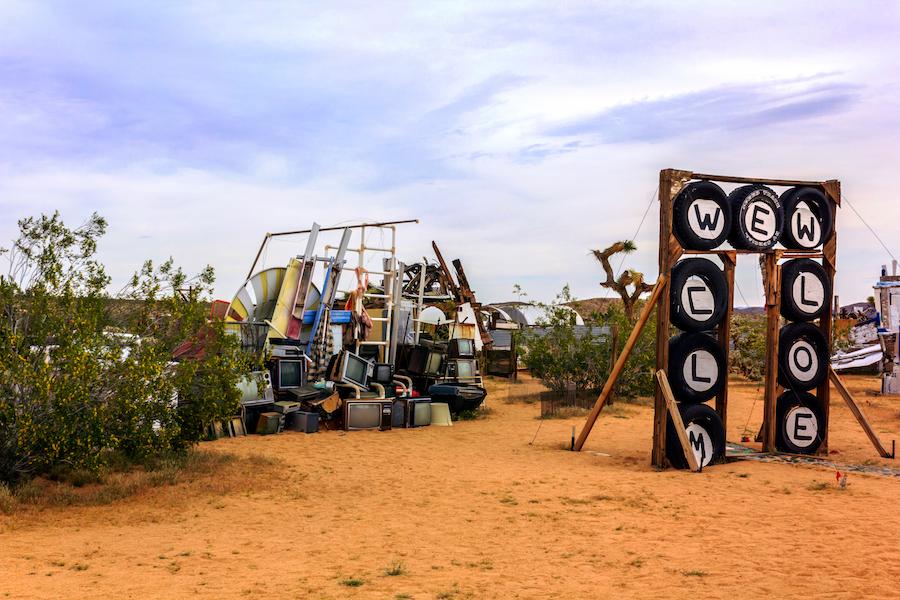 The Noah Purifoy Desert Art Museum near Joshua Tree.