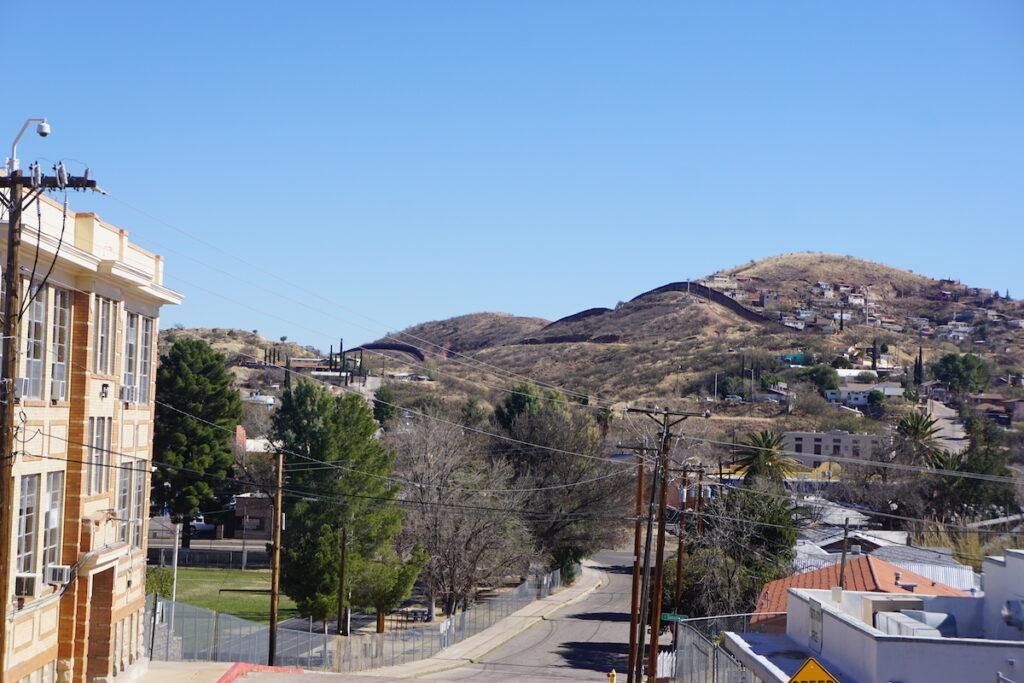 The Nogales Border Wall from Arizona.