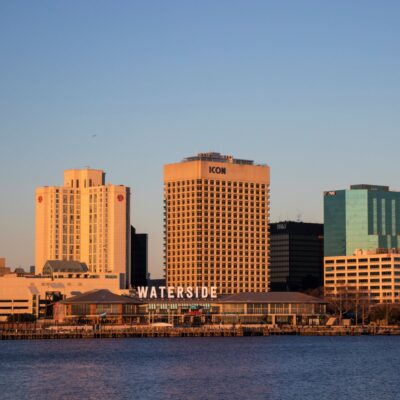 The Norfolk, Virginia, water front.