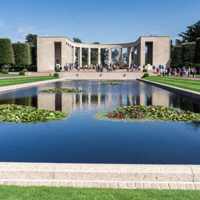 The Normandy American Cemetery in France.