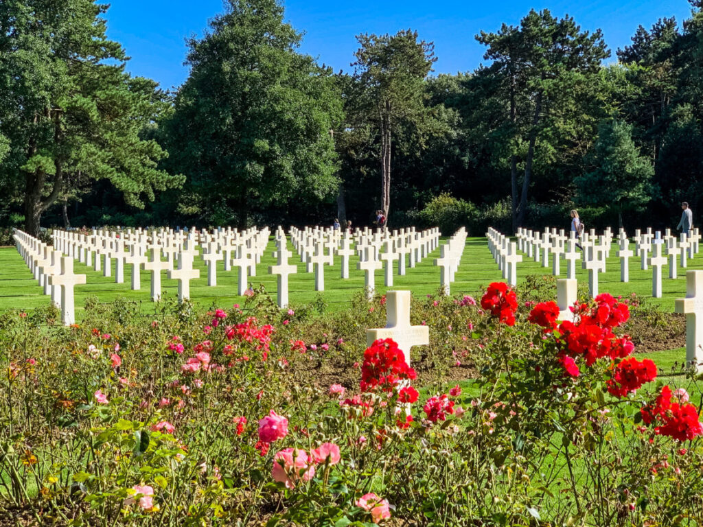 The Normandy American Cemetery in Colleville-sur-Mer, France.