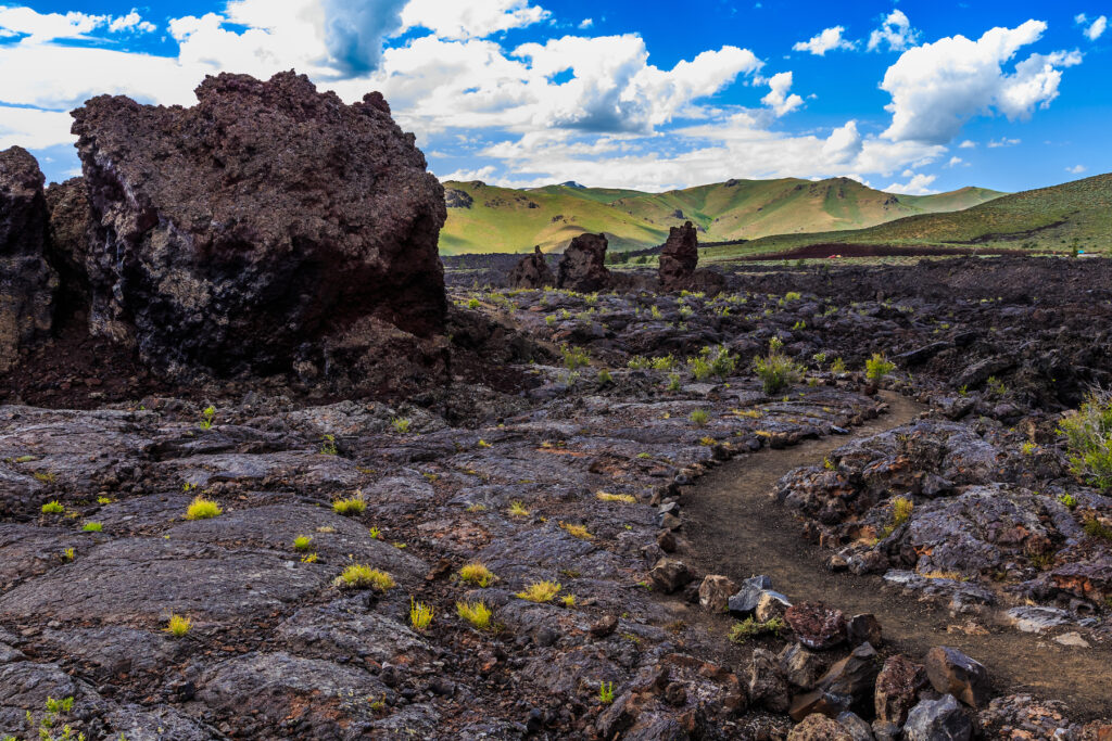 The North Crater Trail at Craters of the Moon National Monument.