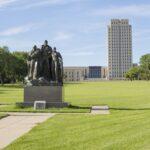 The North Dakota State Capitol in Bismarck.