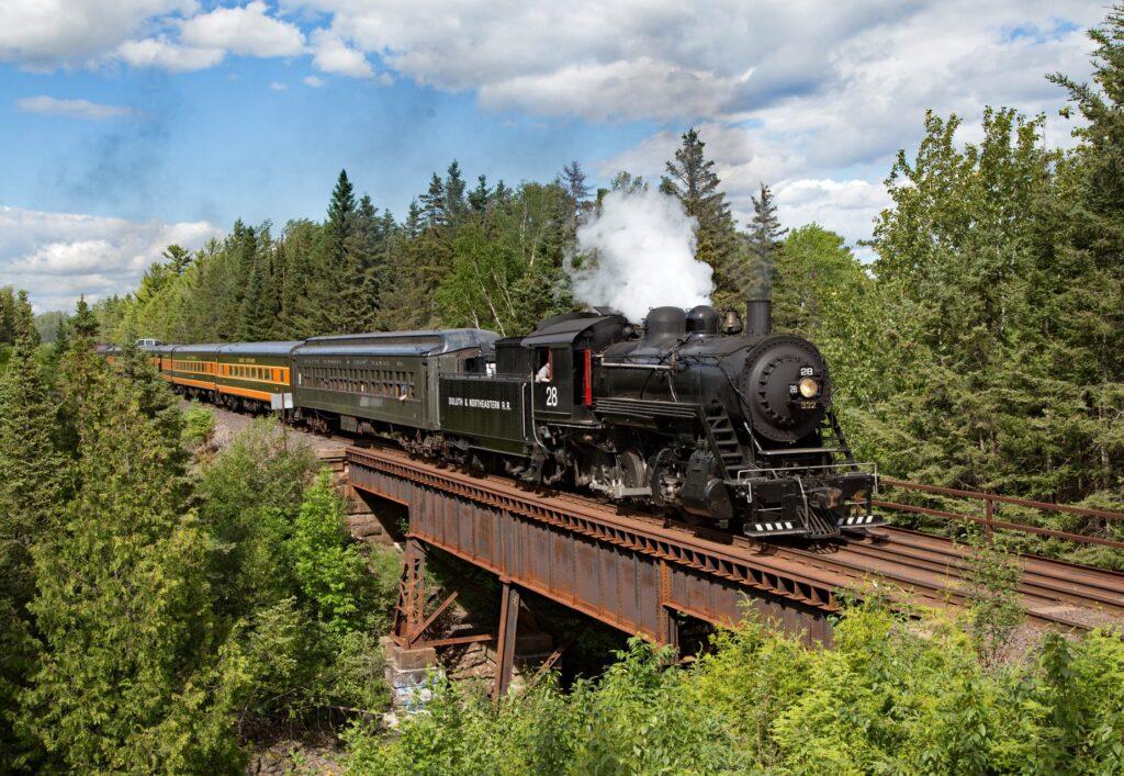 The North Shore Scenic Railroad.