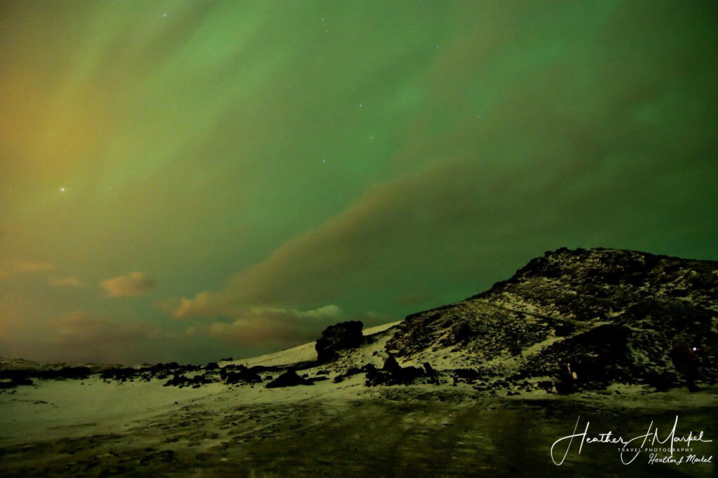 The Northern Lights, as seen from Iceland.