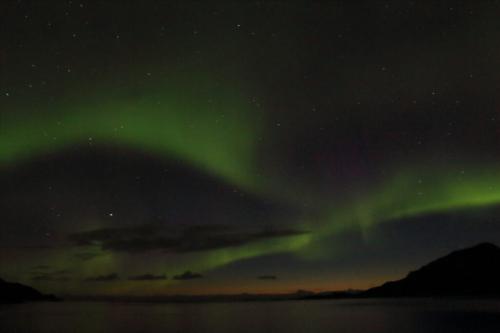 The Northern Lights in Tromso, Norway.