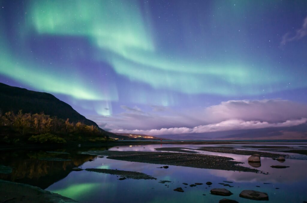 The Northern Lights over Abisko National Park.