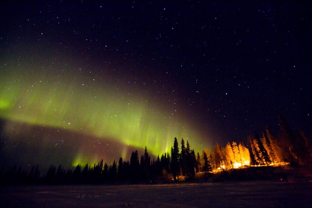 The Northern Lights over Alaska.