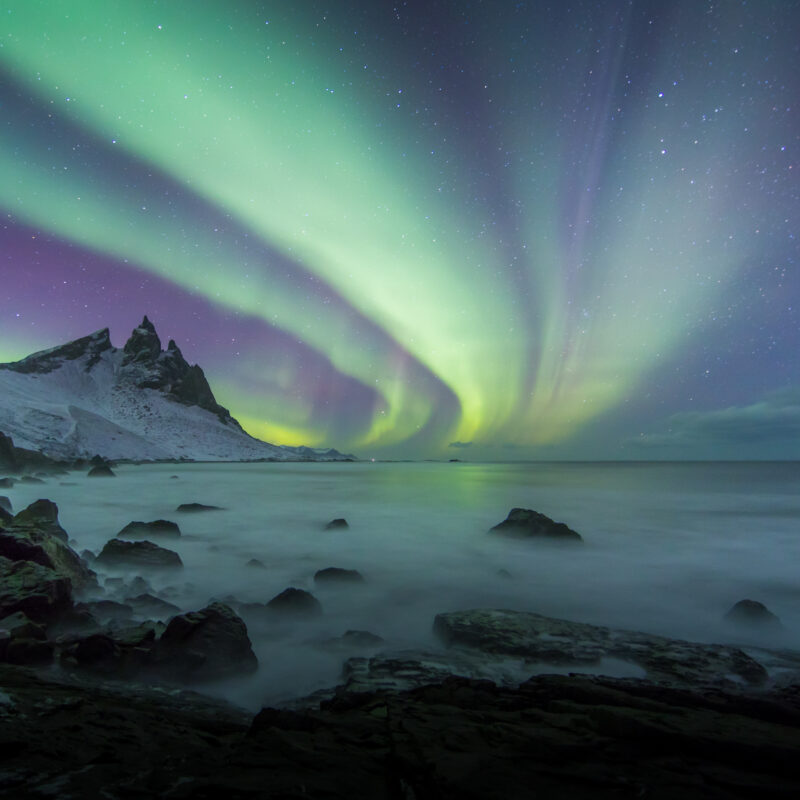 The Northern Lights over Iceland.