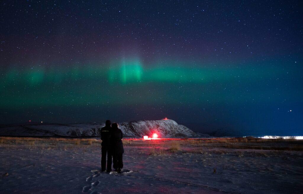 The Northern Lights over Kangerlussuaq.