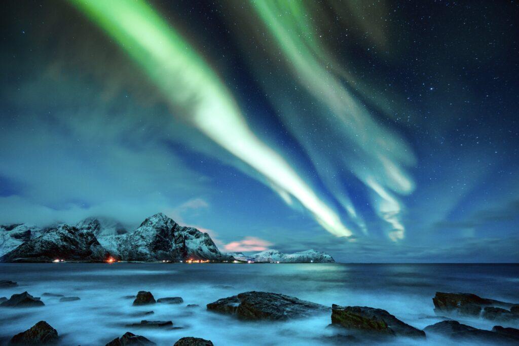 The Northern Lights over Lofoten.