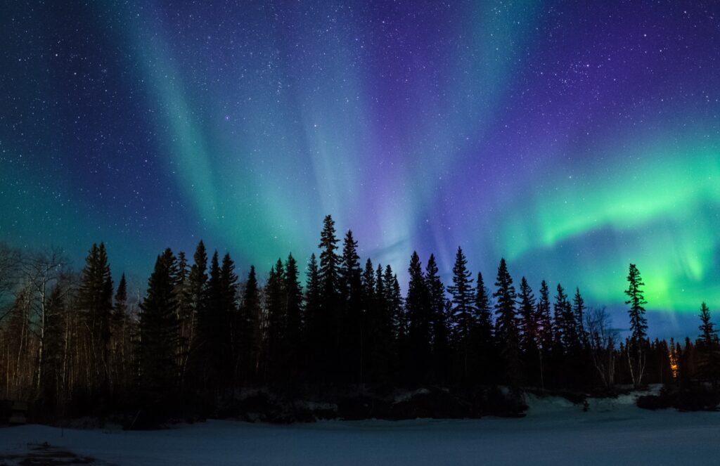 The Northern Lights over Manitoba, Canada.