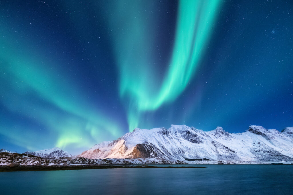 The Northern Lights over Norway.