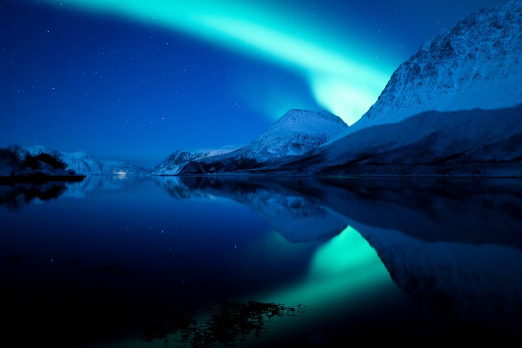 The Northern Lights over Tromso, Norway.