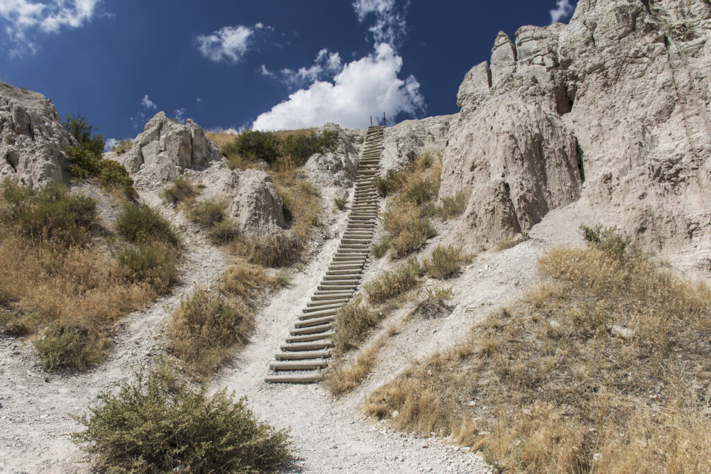The Notch Trail in Badlands National Park.