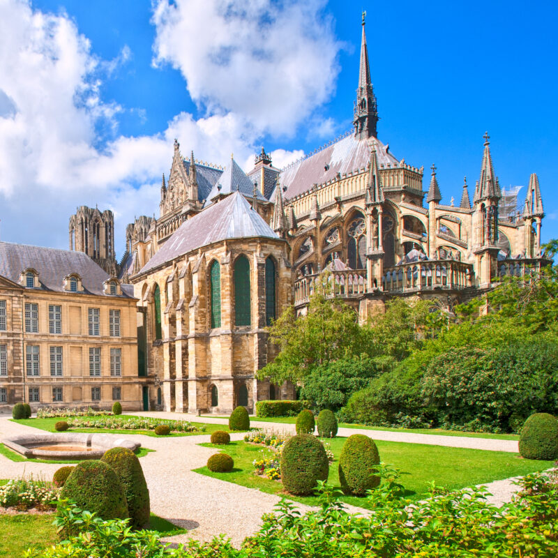 The Notre Dame Cathedral of Reims in France.