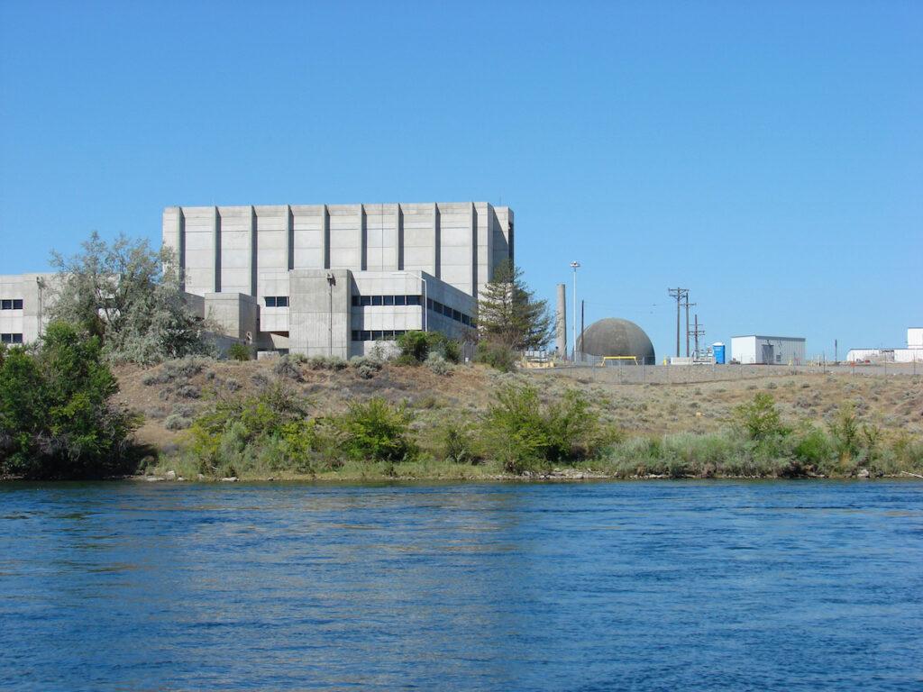 The nuclear reactor in Hanaford Reach, Washington.