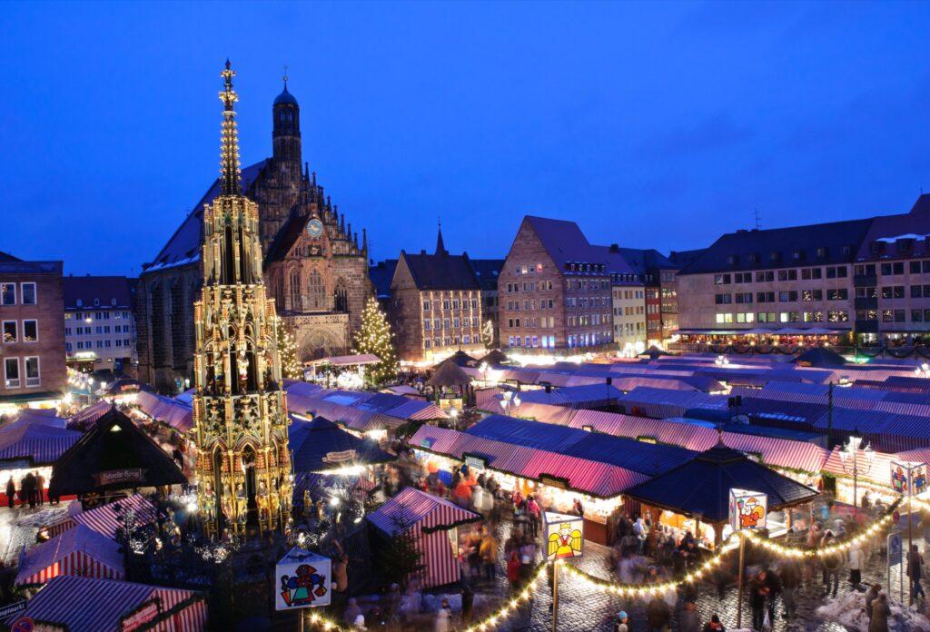 The Nuremberg Christkindlesmarkt in Germany.