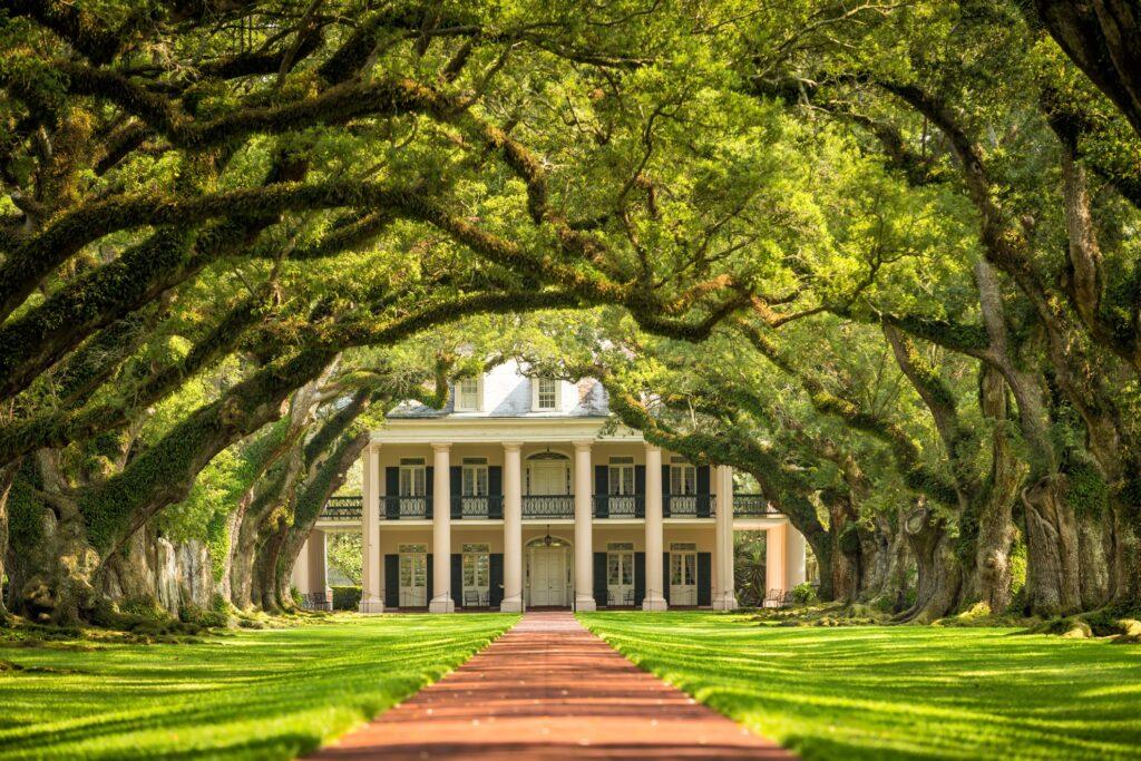 The Oak Alley Plantation in Louisiana.