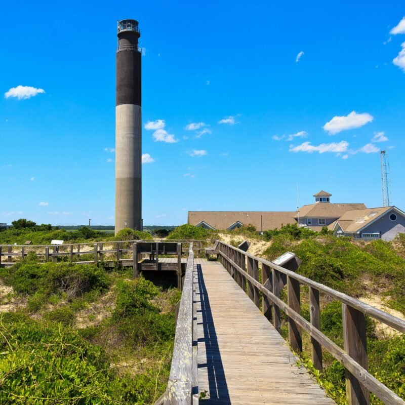 The Oak Island Lighthouse in North Carolina.