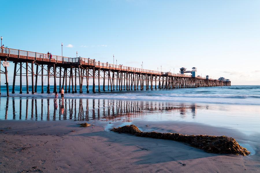 The Oceanside Pier in California.