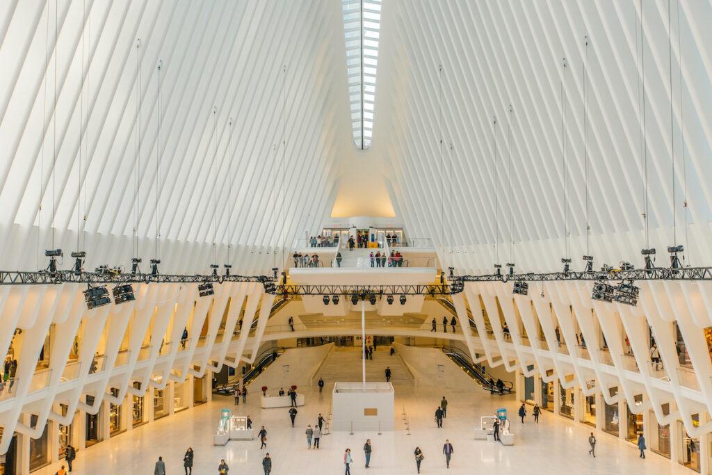 The Oculus Transportation Hub in New York City.
