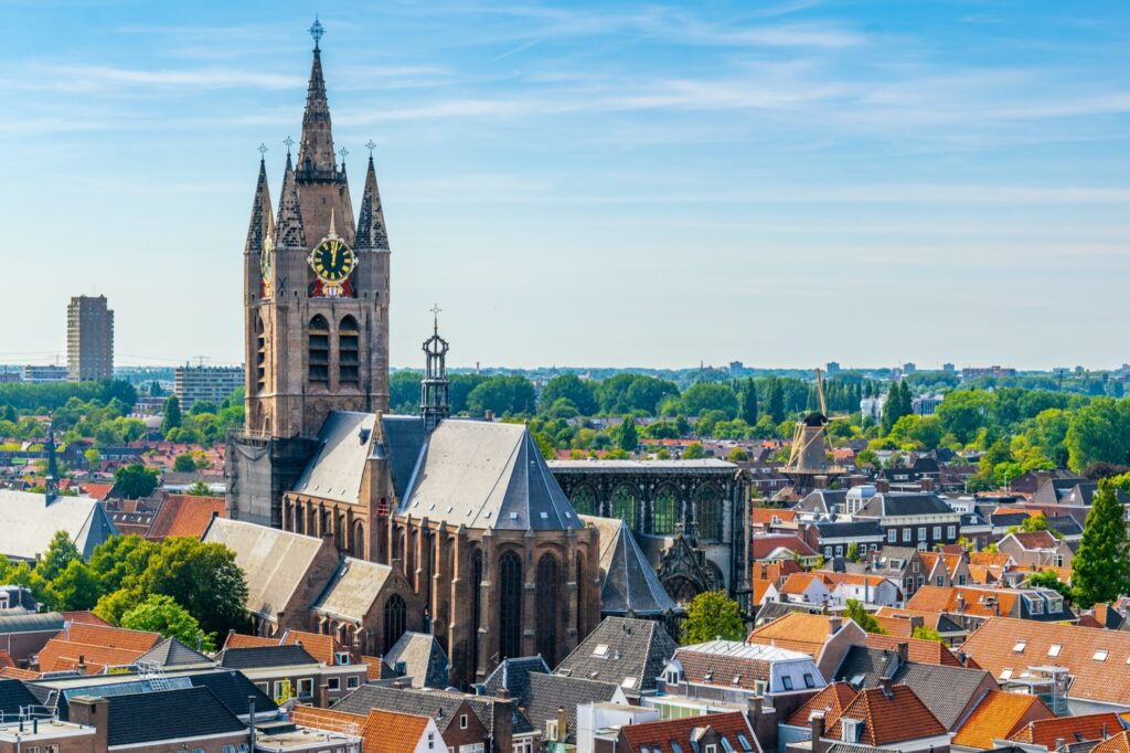 The Old Church in Delft.