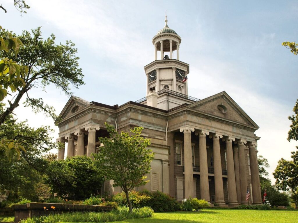The Old Courthouse in Vicksburg, Mississippi.