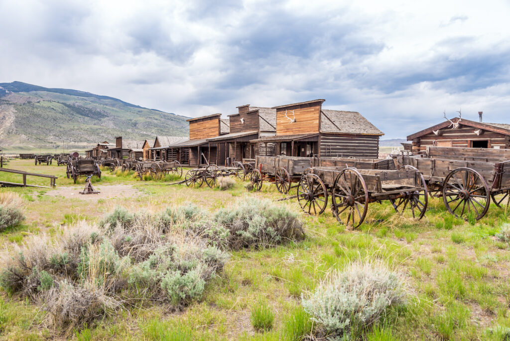 The old cowboy town of Cody, Wyoming.