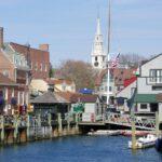The old harbor in Newport, Rhode Island.