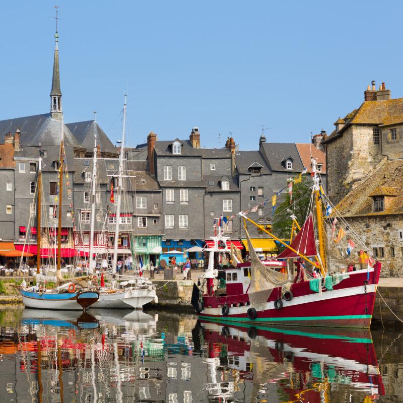 The Old Harbour of Honfleur, France.