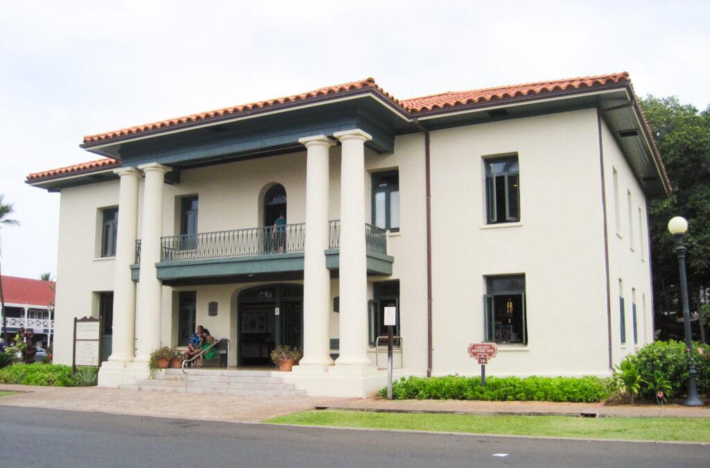 The Old Lahaina Courthouse on the isle of Maui.