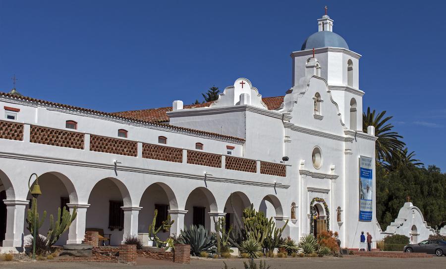 The Old Mission San Luis Rey in Oceanside.