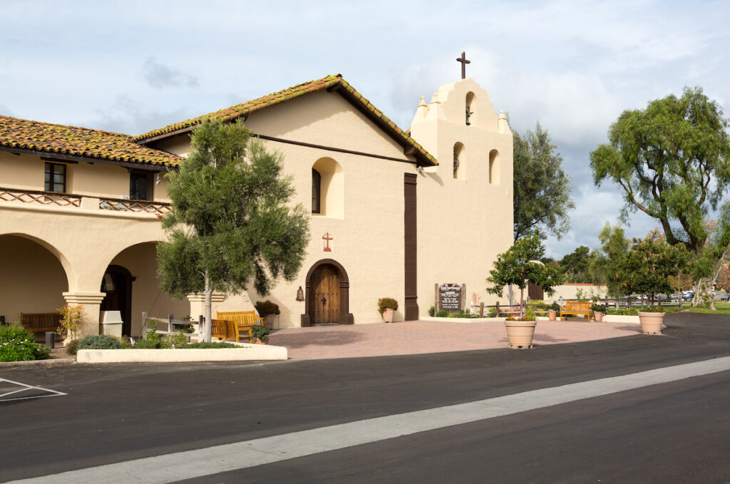 The Old Mission Santa Ines in Solvang, California.