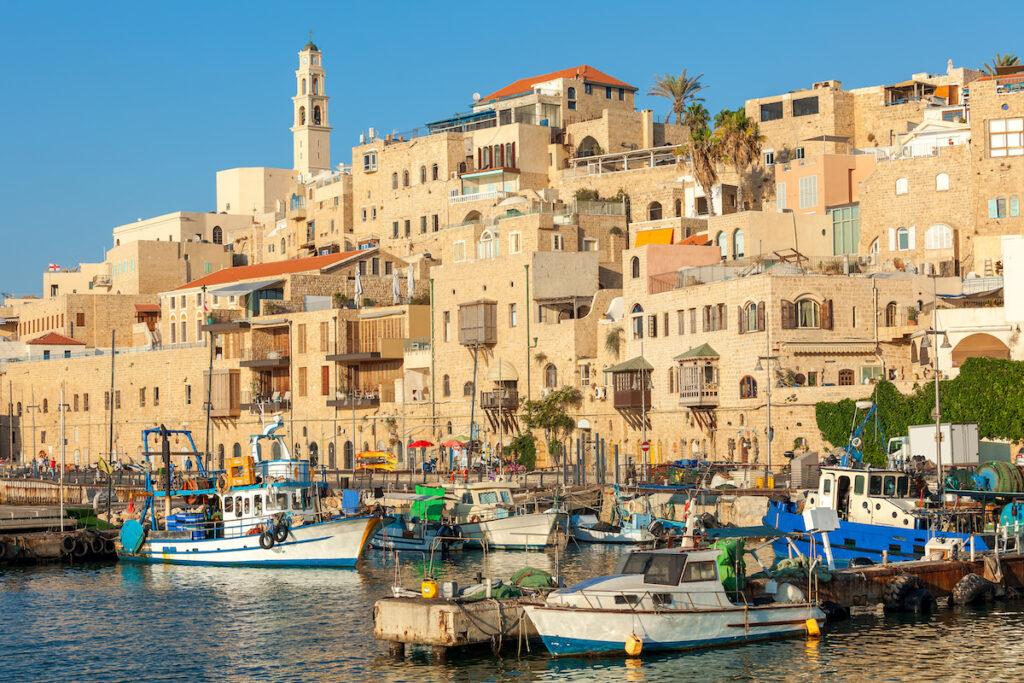 The old port of Jaffa in Tel Aviv.