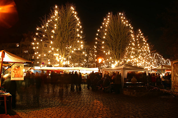 The Old Rixdorfer Christmas Market in Berlin.