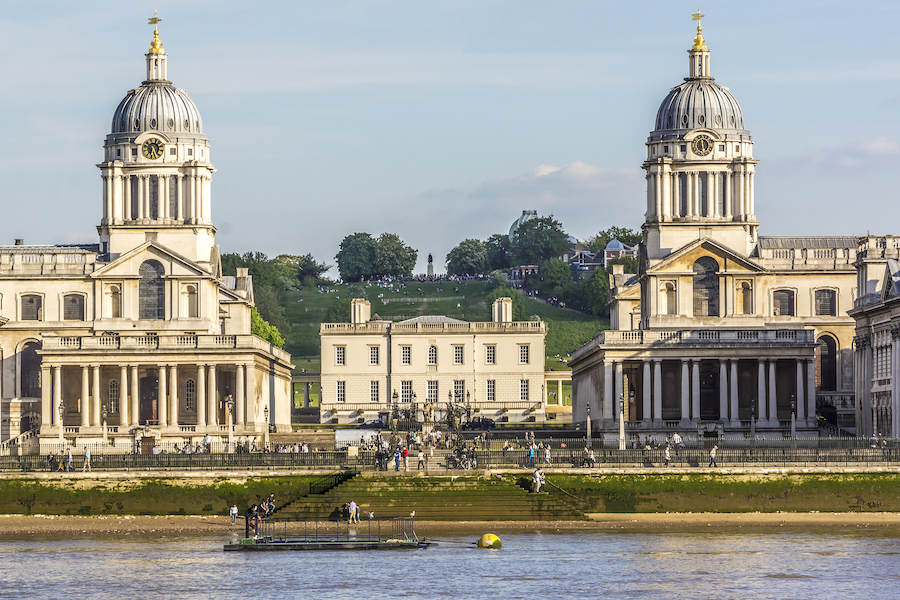 The Old Royal Naval College in historic Greenwich.