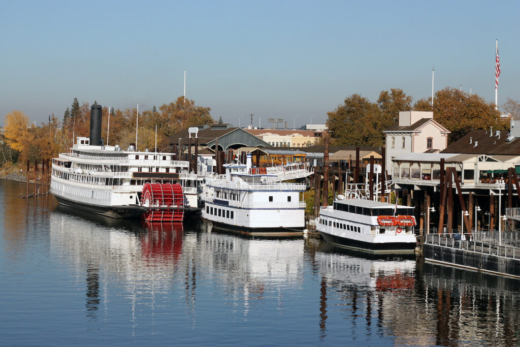 The Old Sacramento Waterfront in California.