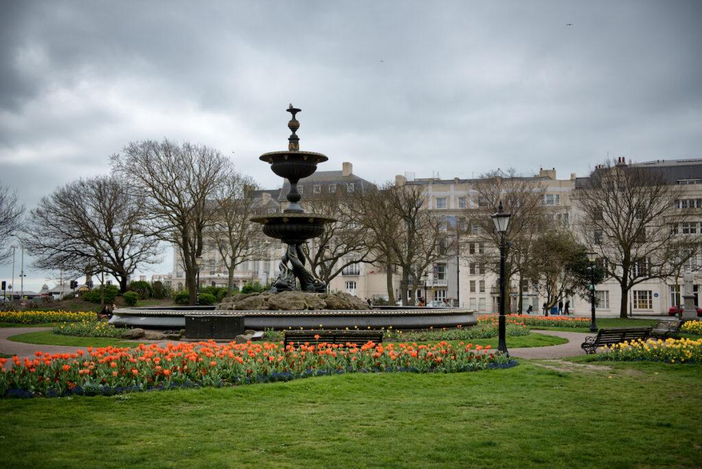 The Old Steine Gardens in Brighton, England.