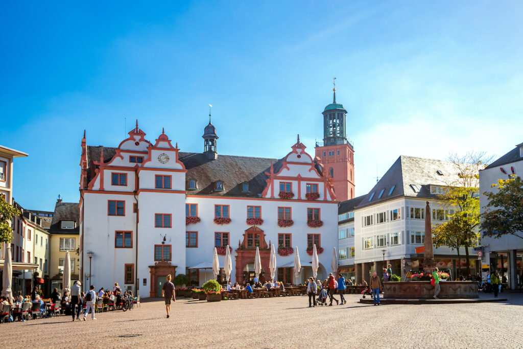 The old town hall in Darmstadt, Germany.
