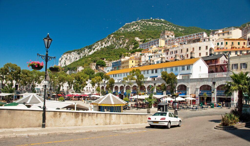 The Old Town neighborhood of Gibraltar.