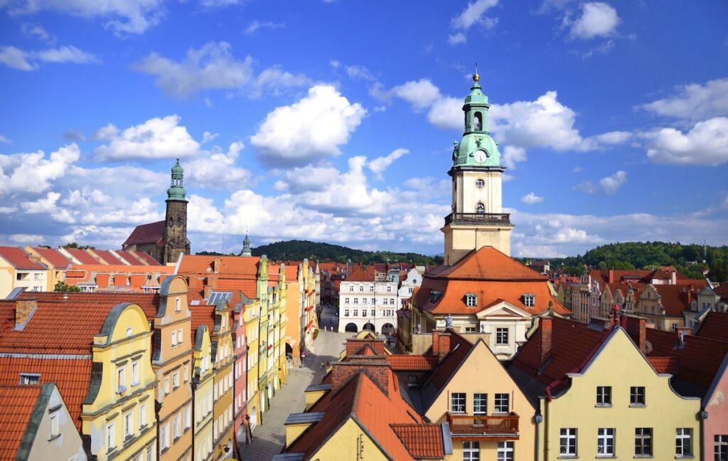The Old Town of Jelenia Gora in Poland.